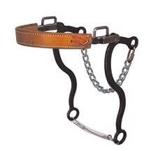 Reinsman Mechanical Hackamore - Leather Nose