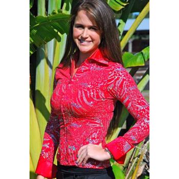 Ladies Western Show Shirt, Red