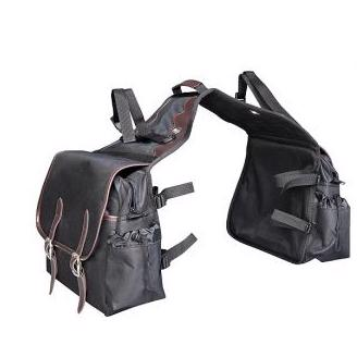 Saddlebag Black, Large w. leather