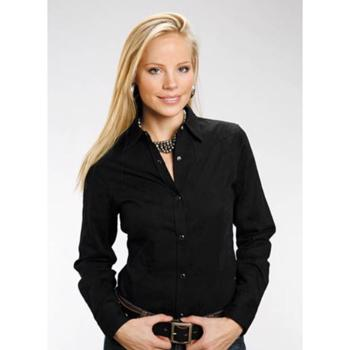 Roper Basic Black LADIES shirt