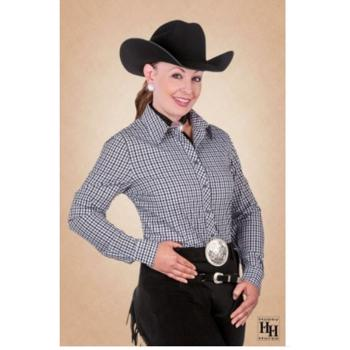 Hobby Horse Chex Ladies show blouse - BLACK