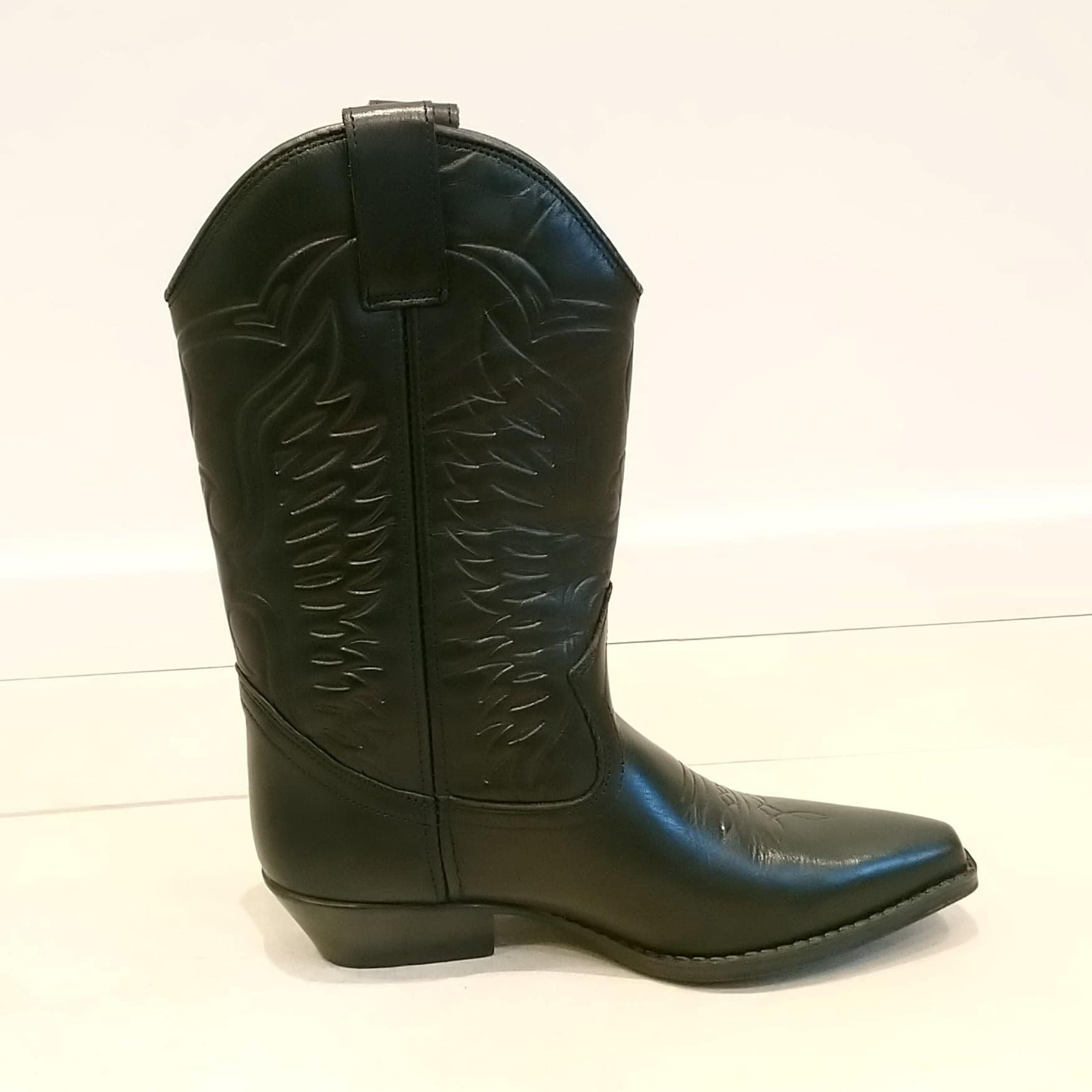 907d11de4c1 Joe Sanchez Dame støvle med flotte syninger - BLACK str 40