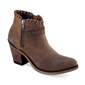Old West Cowgirl Short Fashion Wear Boots - Brown