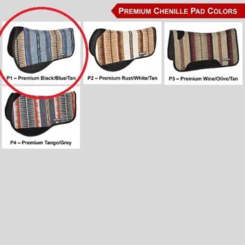 Reinsman 30''*30'' Tacky Too Pad - P1: Premium Black/Blue/Tan