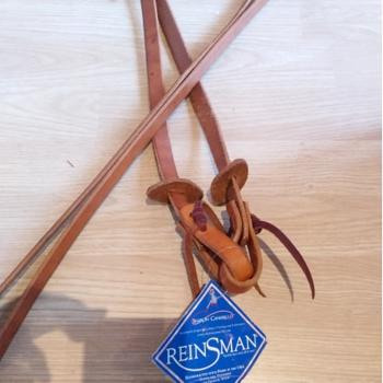 "Reinsman Training Split Reins 3/4"" og 8' - Harness Leather"