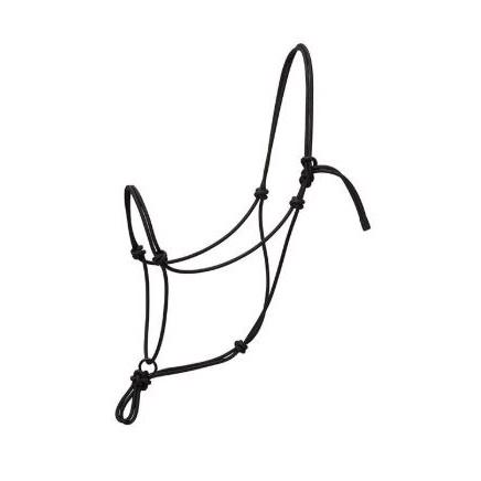 Weaver Silvertip Transition Rope Halter with Sliding Ring - Black Pony
