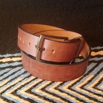 Tan Western bælte - Genuine Leather
