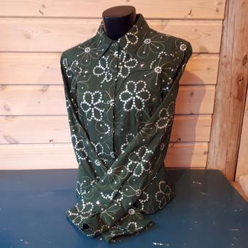 Roper Green Ladies Shirt m bling SMALL