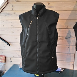 For Horses BLACK Softshell Vest MEDIUM